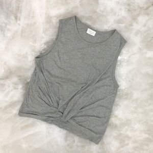 Cute Knotted Grey Tank